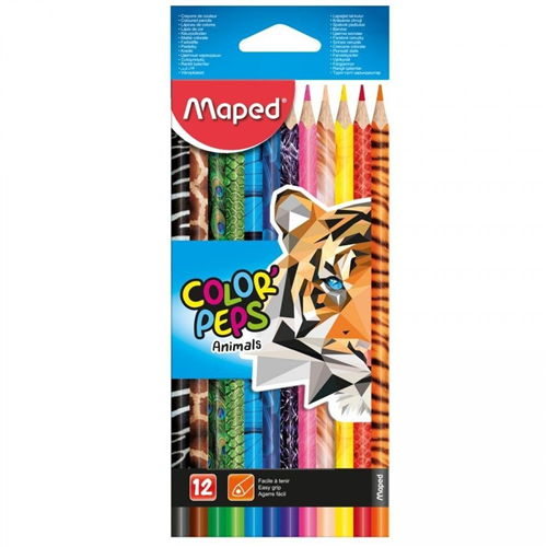 Drvene bojice 12 animals MAPED