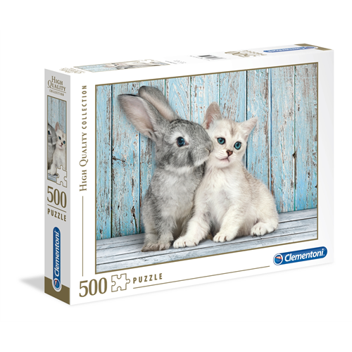 Puzzle CLEMENTONI Cat and Bunny 500 delova