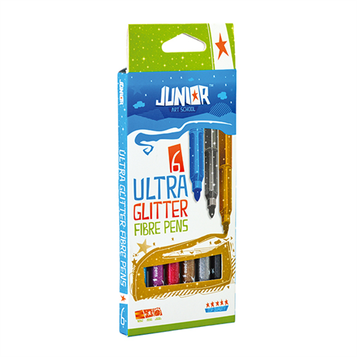Flomasteri 6 Ultra Glitter JUNIOR