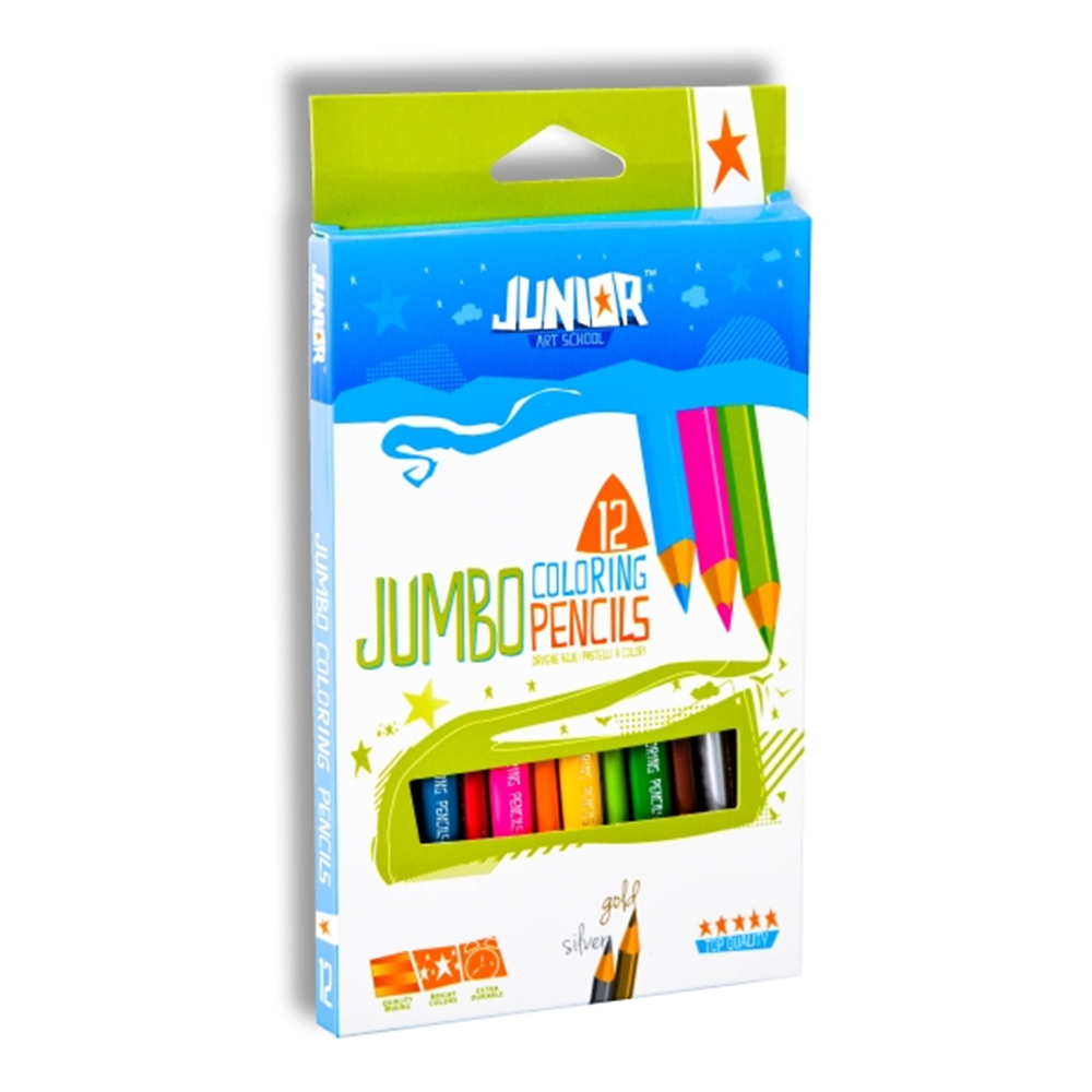 Drvene bojice 12 Ultra Jumbo JUNIOR