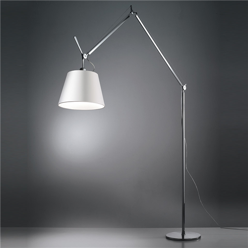 TOLOMEO MEGA LED FLOOR ALUMINIUM WITH SATIN DIFFUSER o 420mm - podna svetiljka