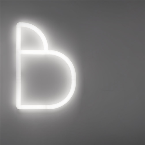 ALPHABET OF LIGHT - Lowercase - Letter c - zidna dekorativna svetiljka u obliku slova c