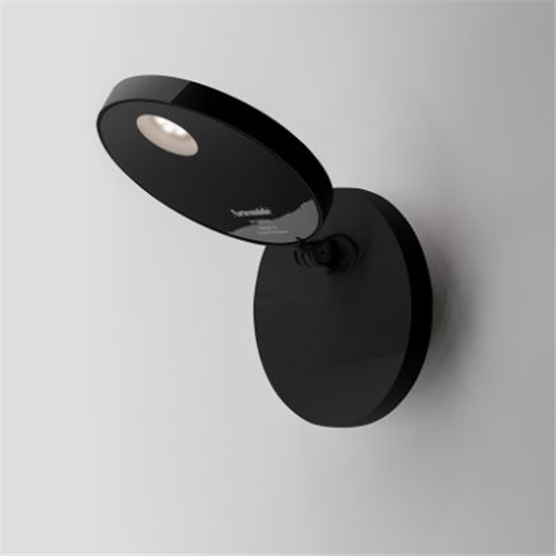 DEMETRA SPOTLIGHT - WITH SWITCH - 3000K - OPAQUE BLACK - zidna svetiljka
