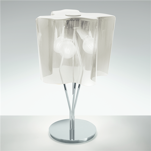 Logico table Silk gloss/Aluminum gray - stona dekortivna svetiljka