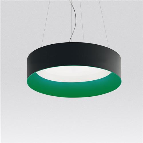 TAGORA SUSPENSION 970 - DIRECT EMISSION - DIMMABLE - BLACK/GREEN - viseća svetiljka