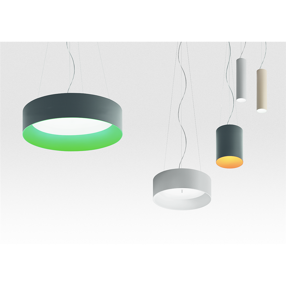 TAGORA SUSPENSION 80 - Led 36° 3000K - Black/Orange - Dimmable Dali - viseća svetiljka