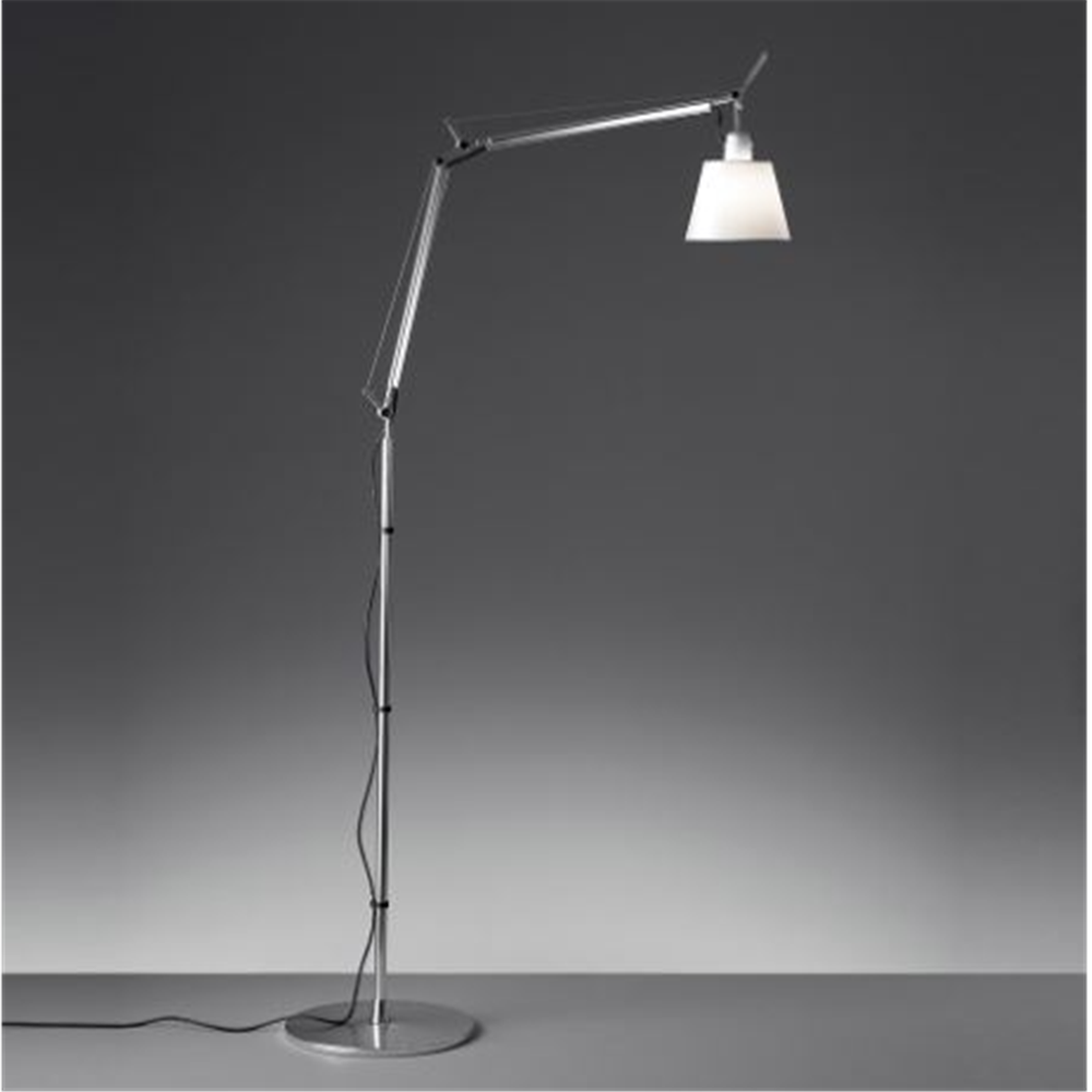 TOLOMEO BASCULANTE SATEN 094- DIFF. O180 - podna dekorativna svetiljka