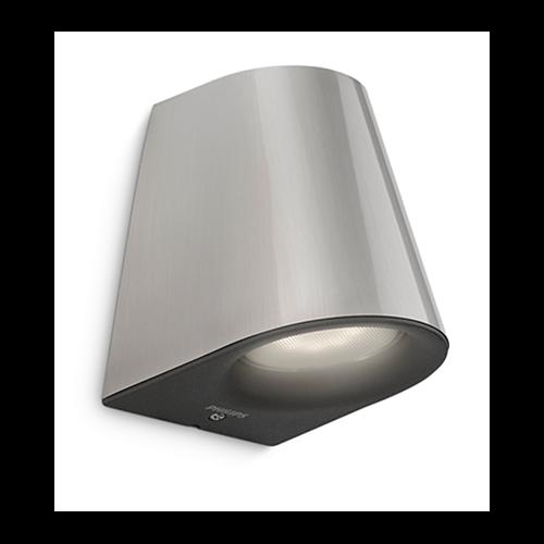 VIRGA WALL LANTERN INOX 1X3W  - nadgradna zidna svetiljka