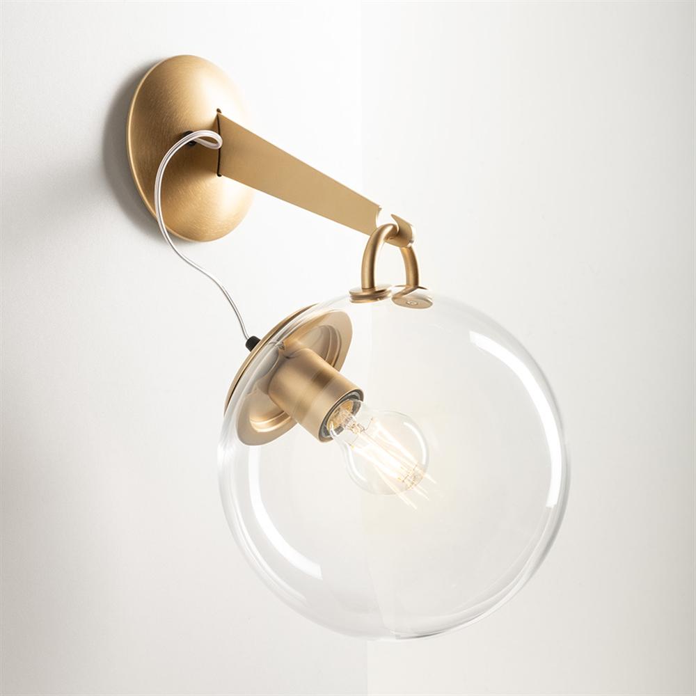 MICONOS WALL SATIN BRASS - zidna dekorativna svetiljka