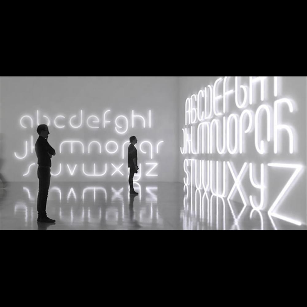 ALPHABET OF LIGHT W b LOWER CASE LETTER - zidna dekorativna svetiljka u obliku slova b