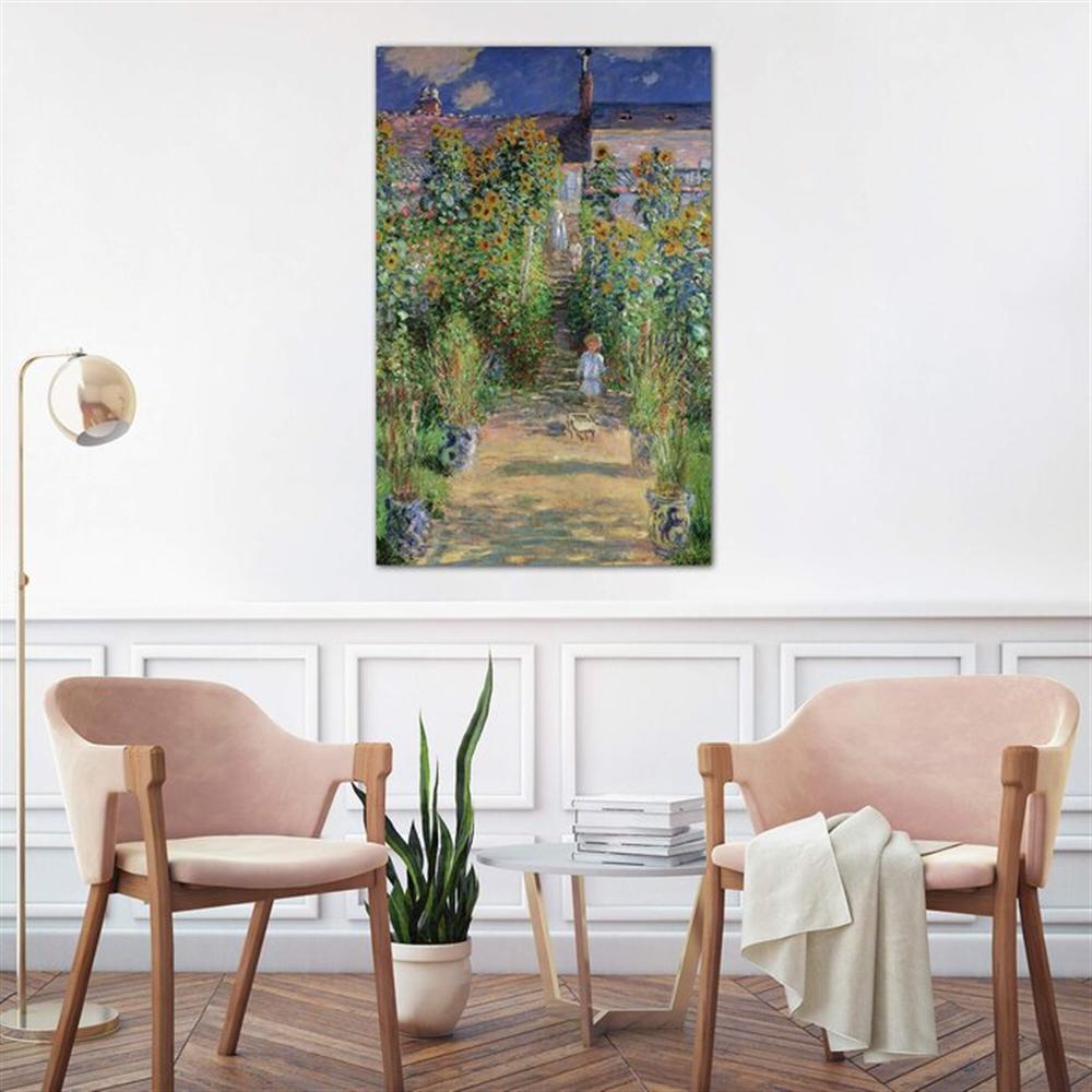 Claude Monet - The Artist's Garden at Vetheuil