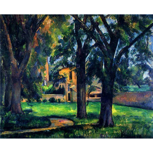 Paul Cezanne - Chestnut trees and farm buildings