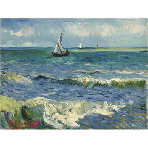 Van Gogh  - Fishing Boats at Saintes-Maries