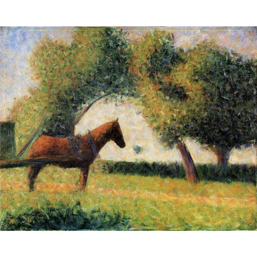 Georges Seurat - Horse and cart