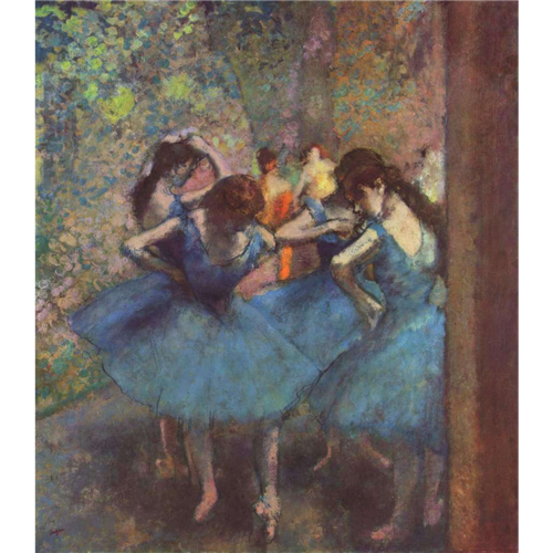 Edgar Degas - Dancers in Blue