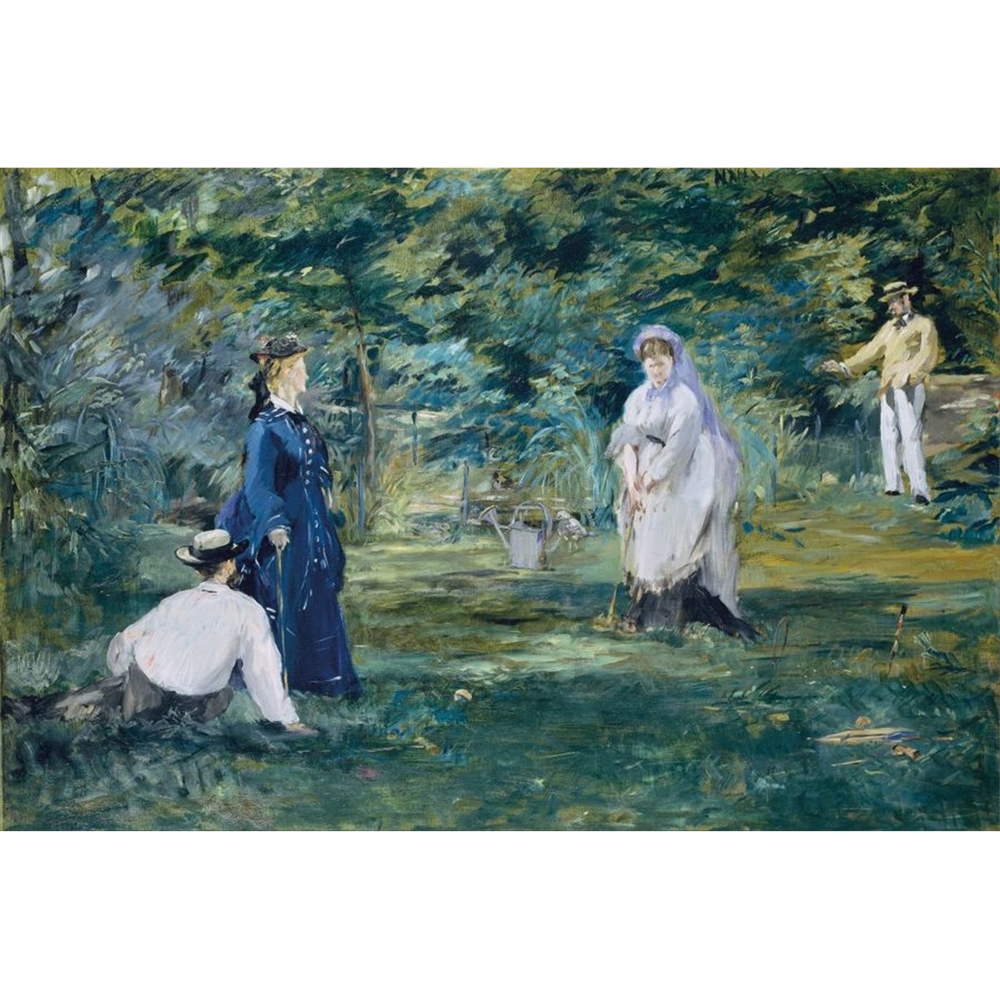 Edouard Manet - A game of croquet