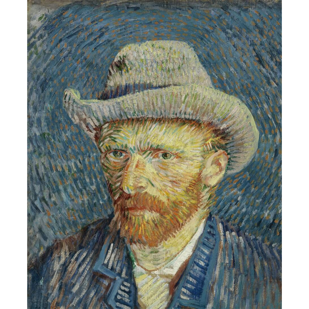 Van Gogh  - Self-portrait with grey felt hat