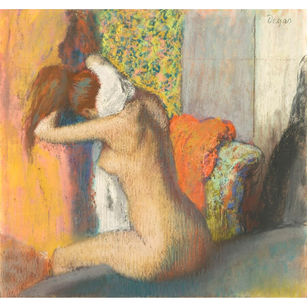 Edgar Degas - After the Bath, Woman Drying her Neck