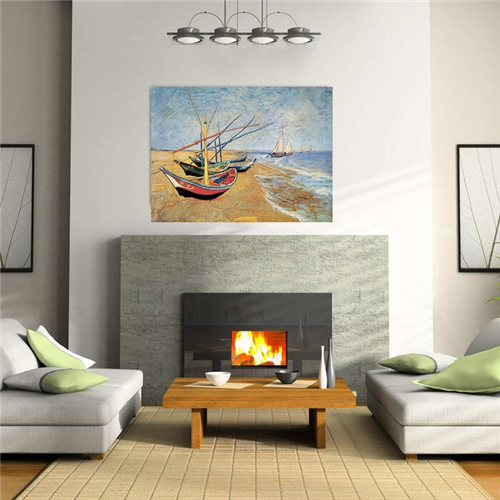 Van Gogh  - Fishing Boats on the Beach