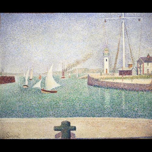 Georges Seurat - Entrance of the Port of Honfleur