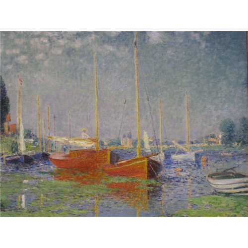 Claude Monet - The Red Boats Argenteuil
