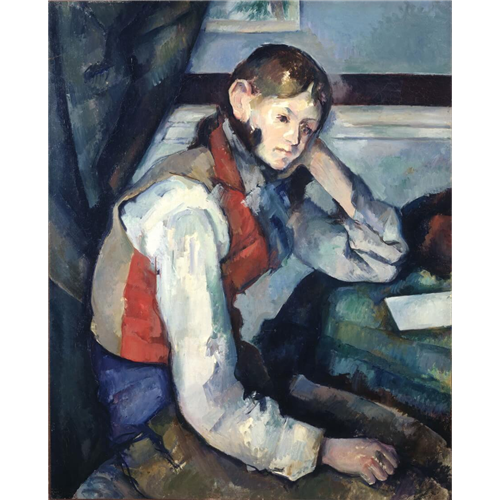 Paul Cezanne - The boy in the red vest