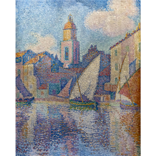 Paul Signac  - The bell tower in St Tropez