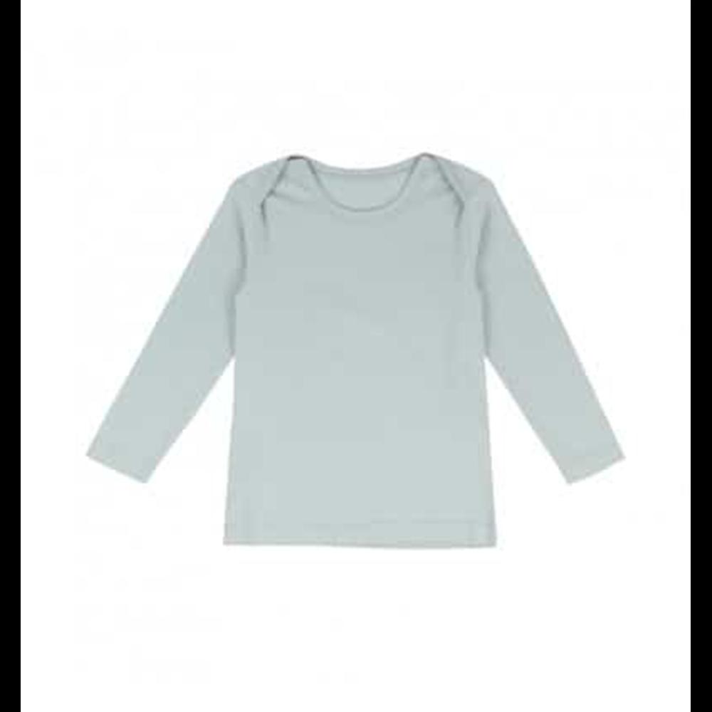 Mekana majica svetlo plave boje od organskog pamuka dugih rukava unisex