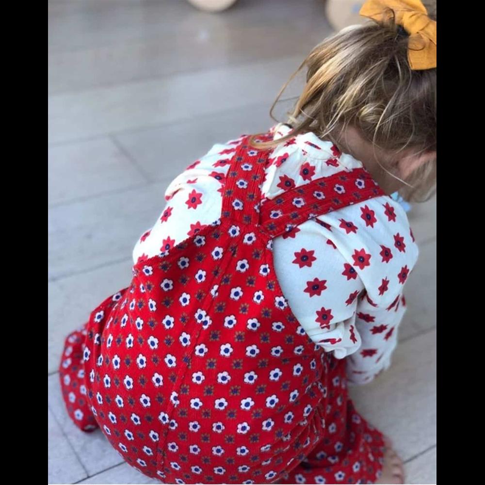 Pantalone na tregere od tankog somota za devojčice