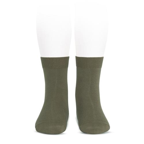 Pamučne braon čarape gladak rad