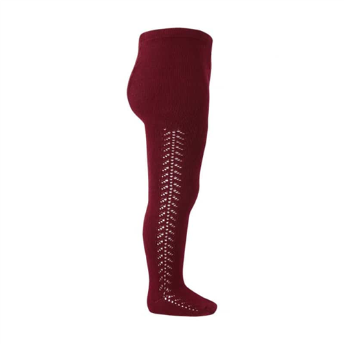 Hulahopke bordo boje, rad sa strane sa obe strane nogavica