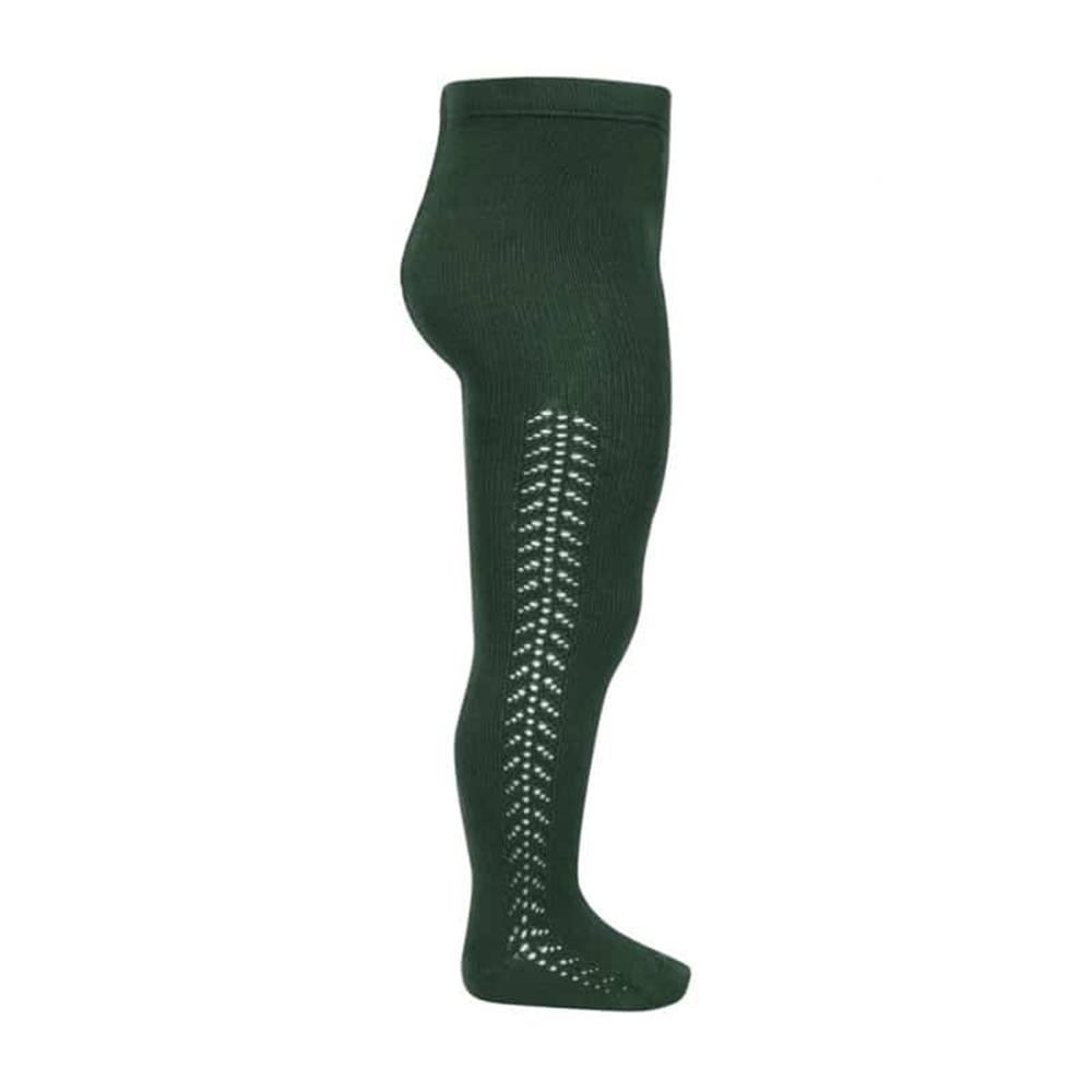 Hulahopke tamno zelena boja, rad sa strane sa obe strane nogavica