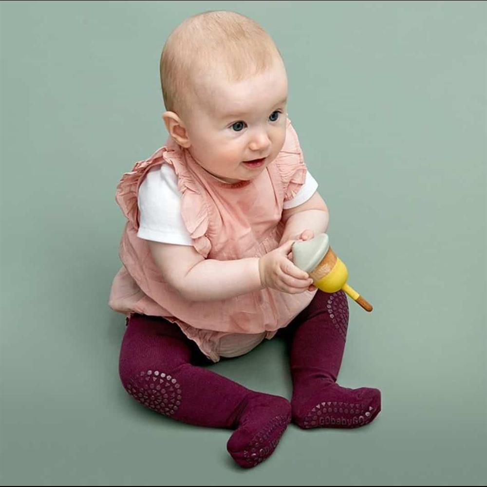 Hulahopke bordo za bebe sa zaštitom na kolenima i tabanima