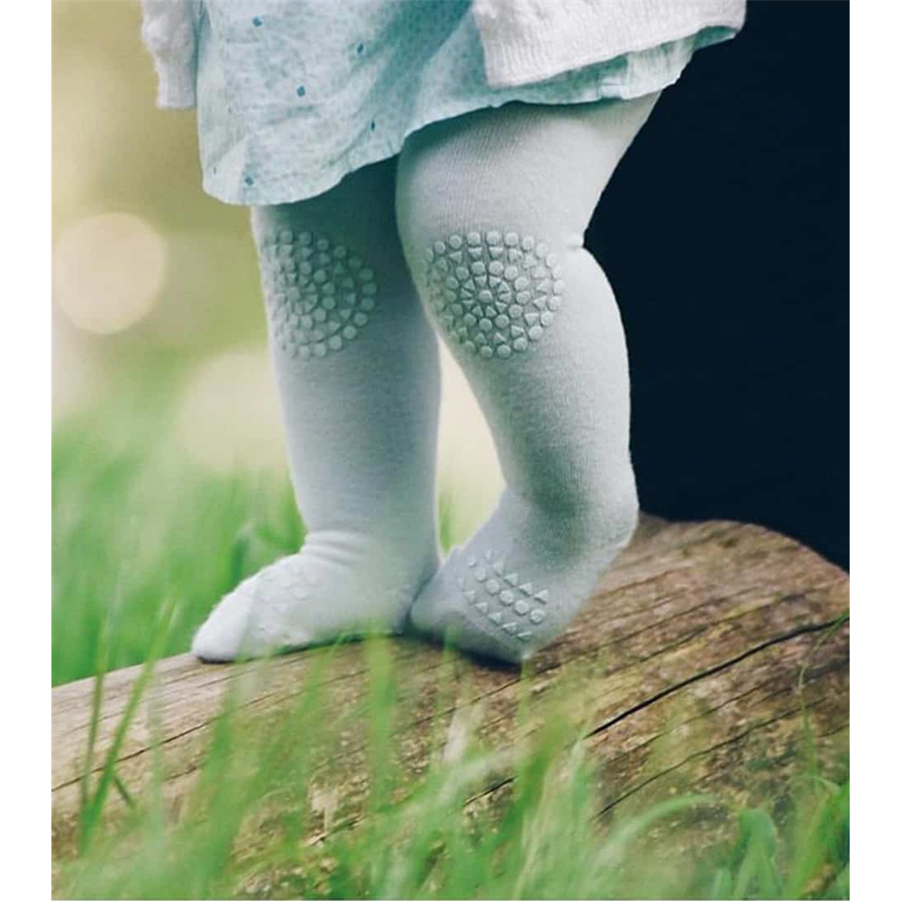 Hulahopke za bebe rezedo boje sa zaštitom na kolenima i tabanima