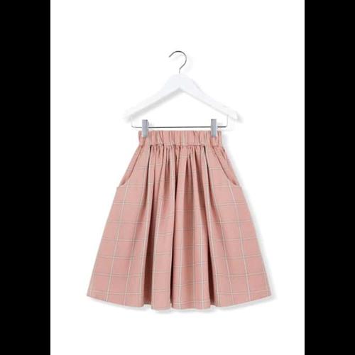 Karirana roze pamučna suknja idealna za jesen