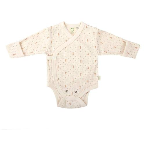 Bodi od organskog pamuka za bebe dugih rukava