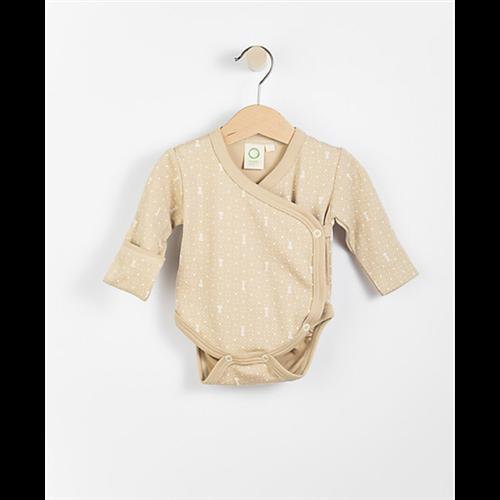 Bodi za bebe  braon boje dugačkih rukava  organski pamuk