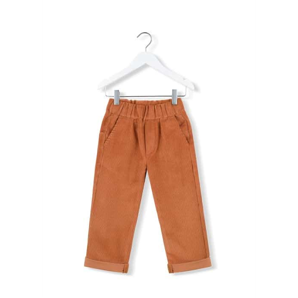 Boja terakot/somotne mekane pantalone terakota boje - unisex
