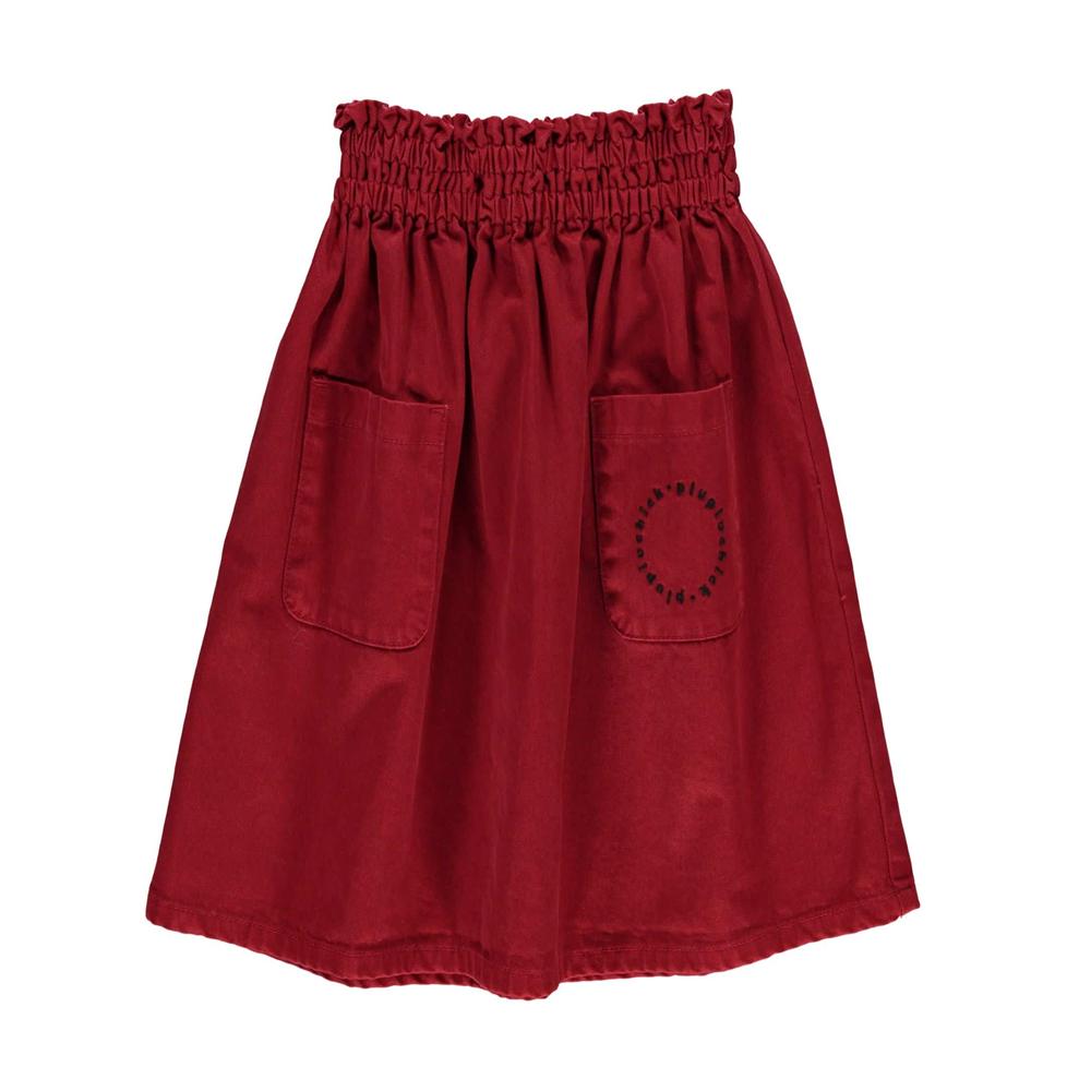 Dugačka suknja crvene boje od pamučnog kepera