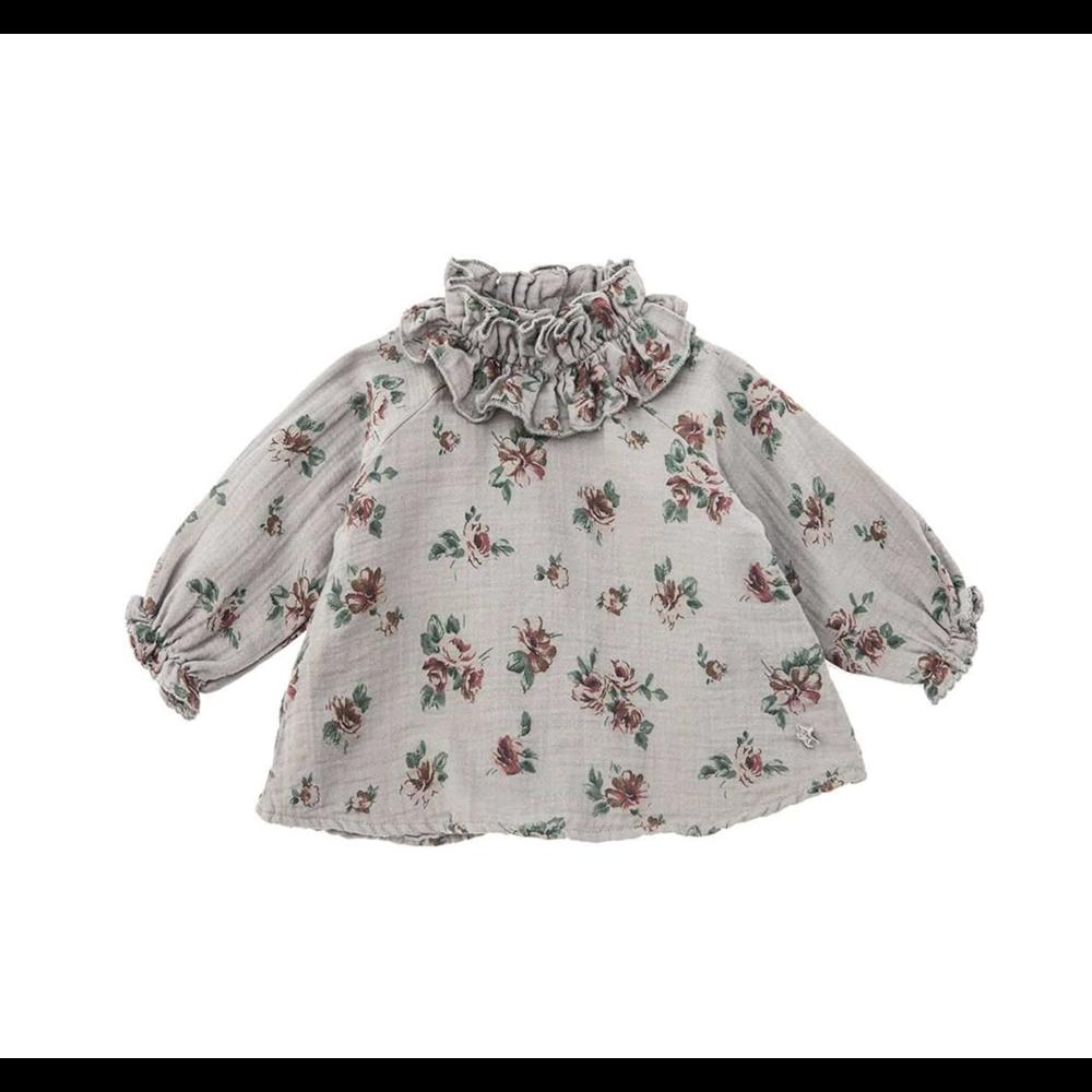 Siva bluzica sa cvetićima za bebe