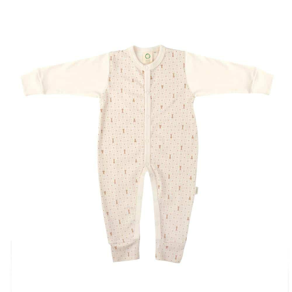 Pidžama za bebe od organskog pamuka krem boje
