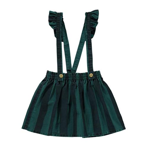 Mini suknja na prugice od punijeg kepera sa tregerima