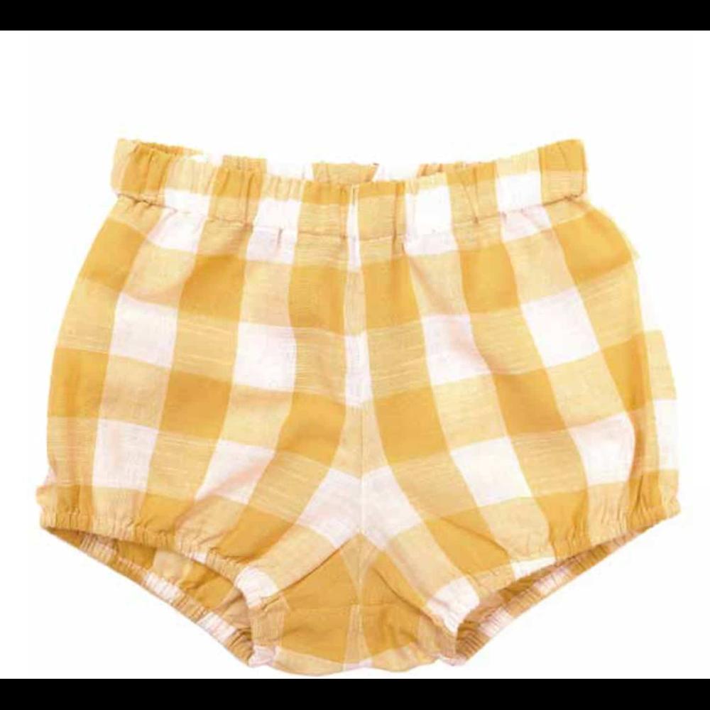 Retro šorc za devojčice na belo žute kockice -idealan za tople letnje dane