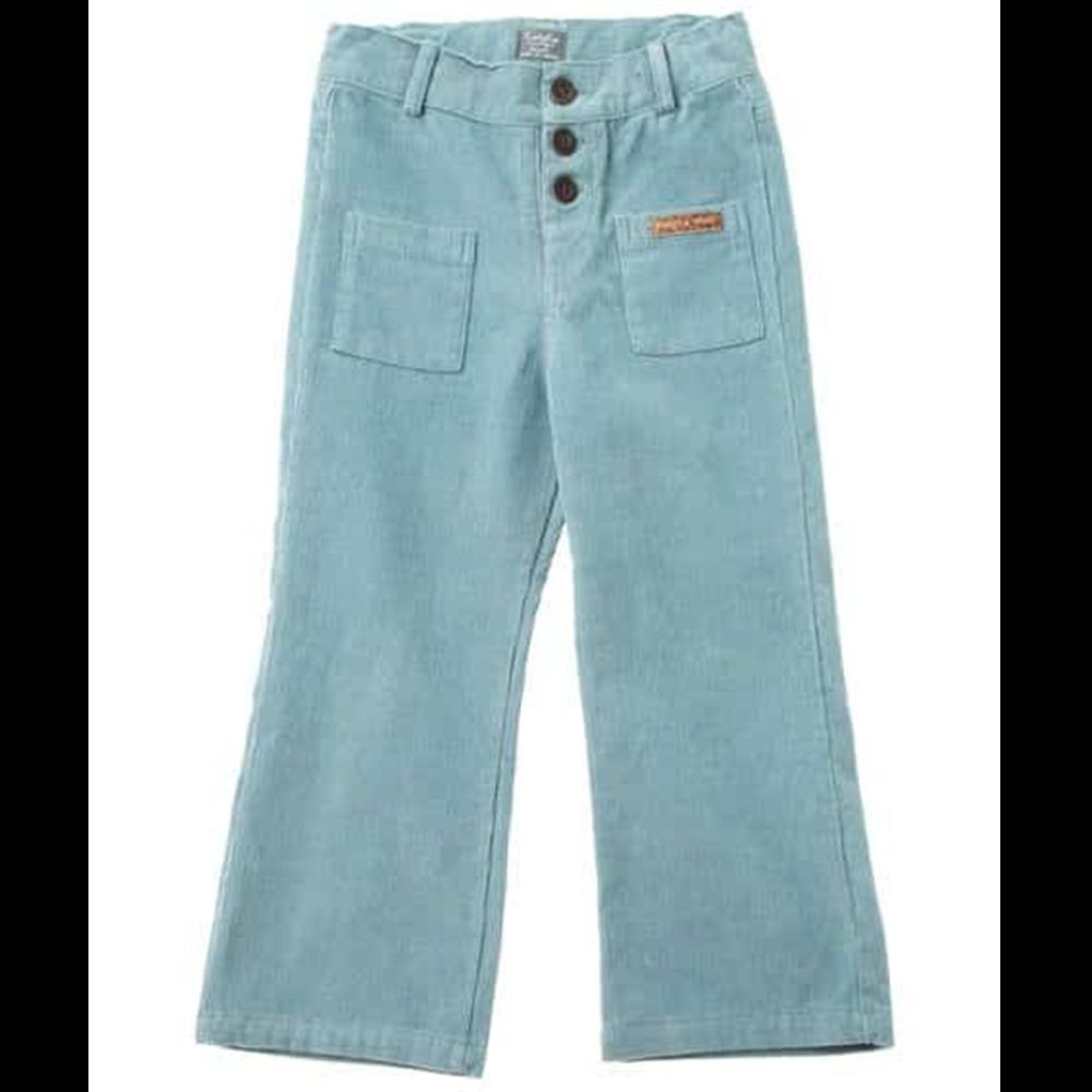 Boja plava/pantalone zvonaste somotne  za devojčice