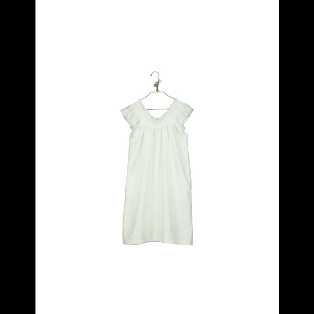 Romantična duga haljina od organskog pamuka bele boje idealna za tople dane