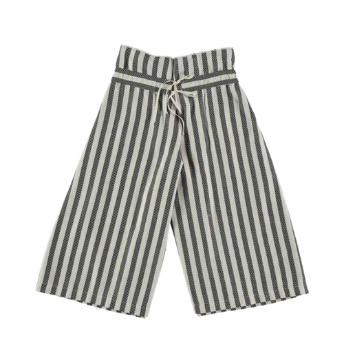 Suknja pantalone na pruge od organskog pamuka