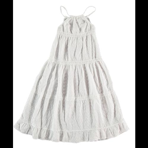 Letnja haljina duga na bretele beli vez -POSLEDNJI KOMAD