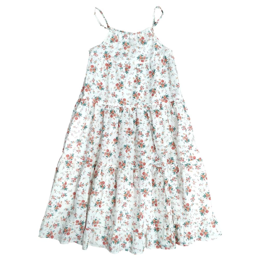 Romantična duga letnja haljina cvetni dezen- poslednji komad