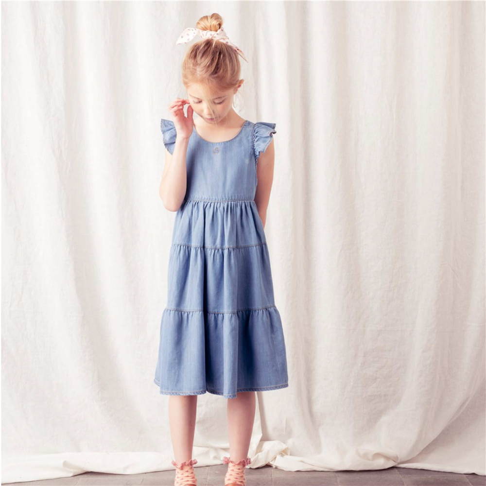 Letnja haljina od liocela  sa otvorenim ledjima i karnerima-POSLEDNJI KOMAD