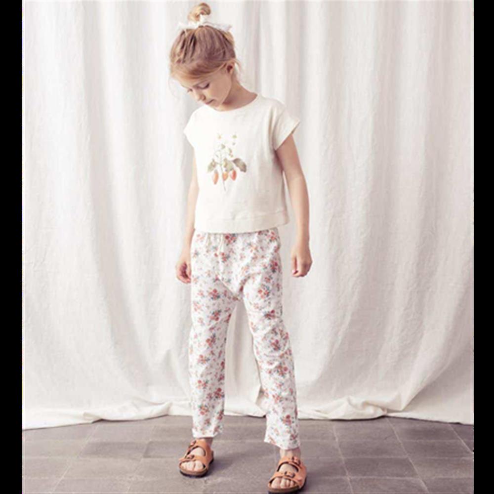 Pantalone sa cvetićima za devojčice-lagane, letnje -POSLEDNJI KOMAD